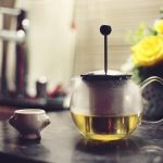 green tea, press, kitchen
